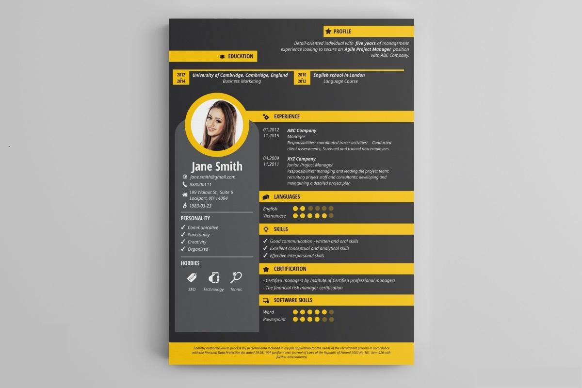Creative design resume templates